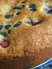 Cornmeal Jag, Featuring Sweet Corn Coffeecake with Mixed Berries