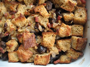 Whole Wheat Stuffing with Pancetta, Chestnuts & Parmesan