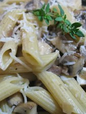 Penne with Mushrooms