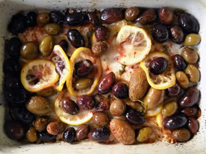 Roasted Olives with Lemon & Thyme