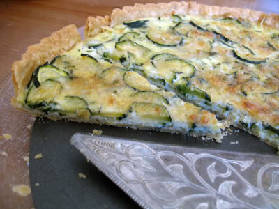 Brunch Recipe: Zucchini-Gruyere Tart