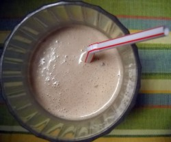 Chocolaty Almond Butter Banana Smoothie