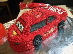 How to Make a Lightning McQueen Cake, Part II: Sculpting and Frosting