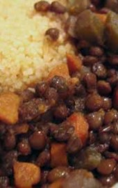 In Which a Trip to Trader Joe's Leads to Black Lentil Stew