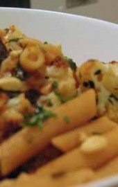 Pasta with Roasted Cauliflower, Figs, and Mint