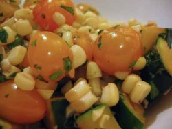 Summer in a Bowl: A Quick Sauté of Corn, Tomato, and Zucchini