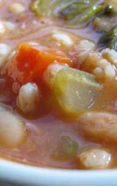Is My Blog Burning? Farro &amp; White Bean Soup with Escarole
