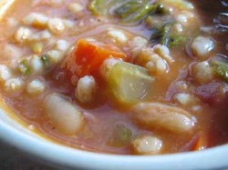 Is My Blog Burning? Farro & White Bean Soup with Escarole