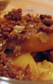 Lemons: Lemonade: Easy Gingersnap Peach Crisp