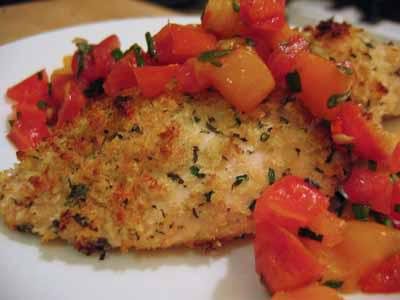 ... for Herb-Crusted Baked Chicken Breasts and Tomato-Peppadew Salsa