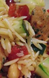 A Greekish Orzo-Tomato Salad