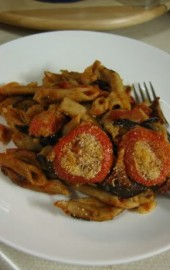 Baked Whole-Grain Penne & Roasted Eggplant
