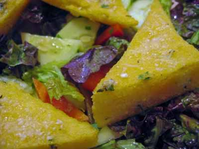 Dangerous, but Versatile: Herbed Polenta Triangles