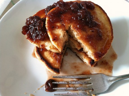 Slow cooker cranberry sauce becomes pancake syrup