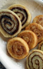 From left to right: Cranberry Pinwheels, Raspberry Pinwheels, and Nutella Pinwheels
