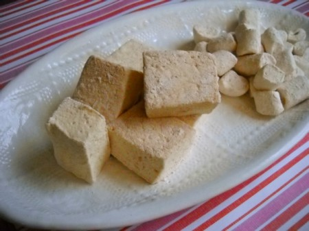 homemade marshmallows, mini and full-sized