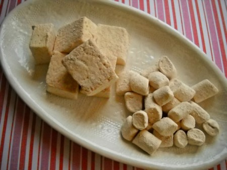 homemade cinnamon marshmallows and mini-marshmallows
