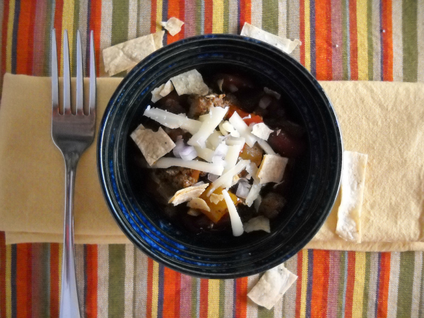 slow cooker chorizo chili