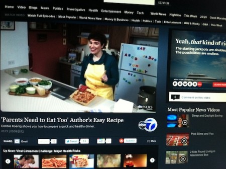 debbie koenig, author of parents need to eat too, cooks on ABC News