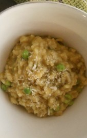 Slow Cooker Spinach, Peas &amp; Pear Risotto: Recipe &amp; Giveaway!