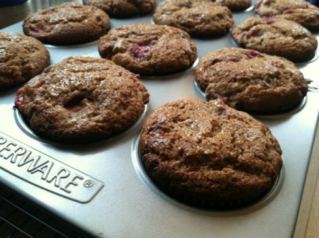 fruity whole wheat muffins