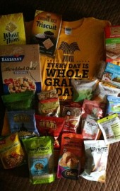 You could win it all: Whole grain cereals, side dishes, cookie mixes, crackers, snacks, and more. Plus a t-shirt!