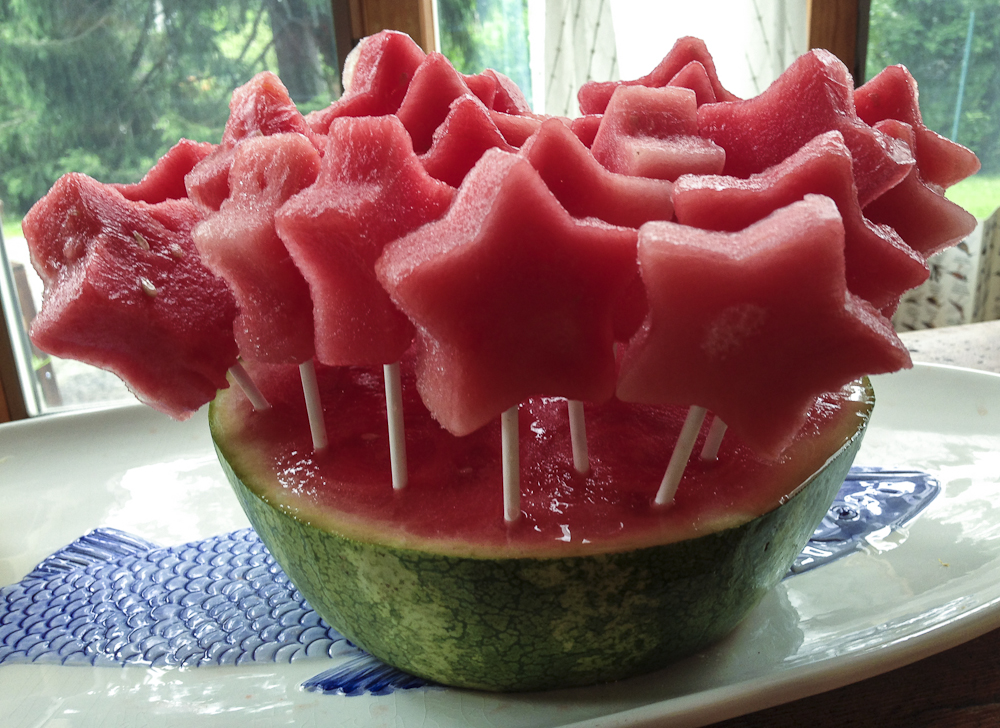 Frozen Watermelon Pop Stars
