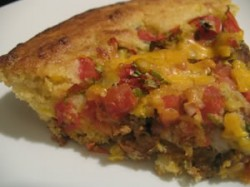 Turkey and Pinto Bean Cornbread Pie: Almost Meatless Potluck Dinner