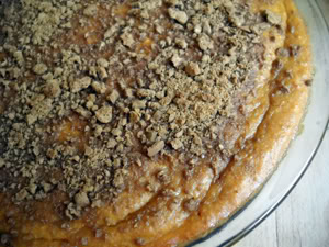 Pumpkin-Ricotta Gingersnap Pie