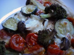 Roasted Vegetable Pizza (with Roasted Tomato Sauce)