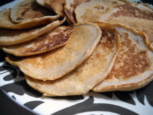 Apple-Cinnamon Whole Wheat Pancakes