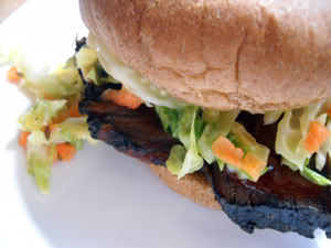 Overnight BBQ Brisket with Tangy Coleslaw