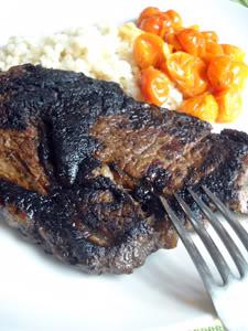 Balsamic-Herb Bison Steak