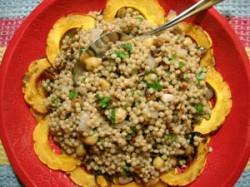 Warm Delicata Squash & Israeli Couscous Salad