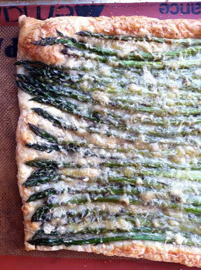 Tonight's Dinner (Asparagus, Gruyere & Parmesan Tart)