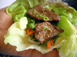 Picky Eater Special: Korean-Style Beef Lettuce Wraps with Ginger-Lime Noodles