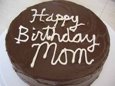 Happy Birthday, Mom! (With a Recipe for Dark Chocolate Layer Cake with Mocha Frosting, Plus Cake Frosting Tips)