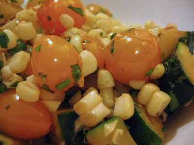 Summer in a Bowl: A Quick Sauté of Corn, Tomato, and Zucchini
