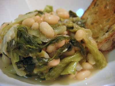 Braised Escarole and White Beans, from My New Favorite Cookbook