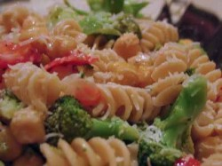 Lemony Broccoli and Chickpea Pasta