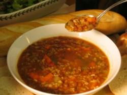 Lentil & Brown Rice Soup