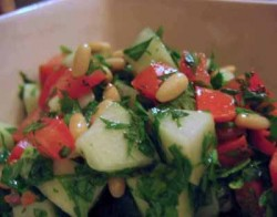 Variations on a Theme: Two Salads with Cucumber, Tomatoes, and Herbs