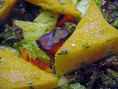 Dangerous, but Versatile: Herbed Polenta Triangles