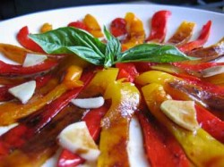 A Mother Recipe: Marinated Roasted Peppers