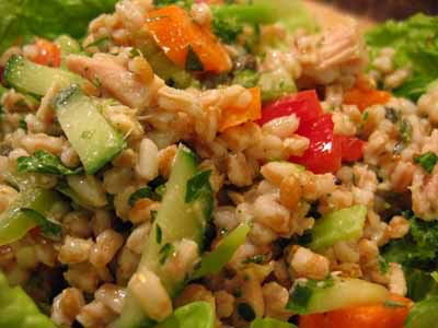 In Which We Atone for Caramel-Coated Sins with Tuna, Farro, and White Bean Salad