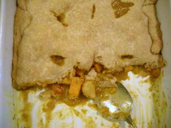Curried Chicken & Sweet Potato Pot Pie