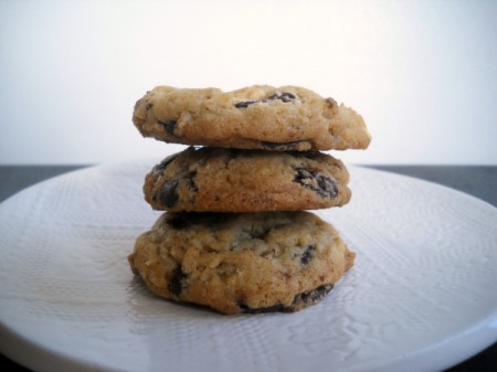 chocolate chip cookies with potato chip crumbs and pretzel nuggets