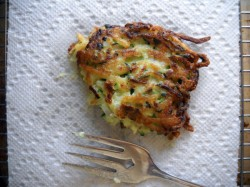 (Not Too) Cheesy Zucchini Fritters