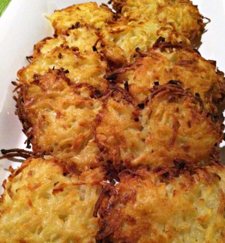 latkes made with less oil