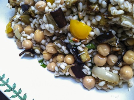 130509 roasted vegetable barley salad